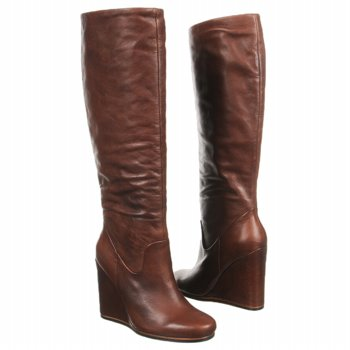 brown boots, cognac boots, wedge boots
