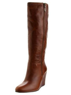 cognac boots, wedge boots, brown boots