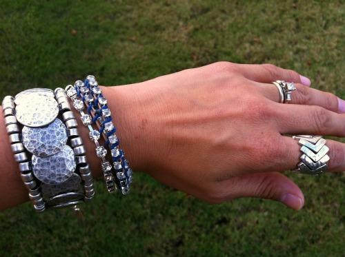 Jewelmint Mumbai bracelet, DIY wrap bracelet, Chan Luu bracelet, chevron ring