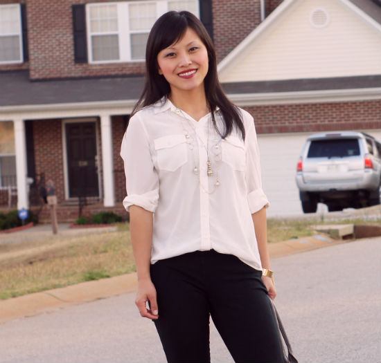 How I Wear: A simple white blouse