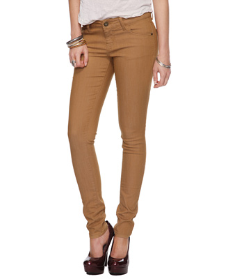 skinny colored jeans, camel colored jeans, forever 21